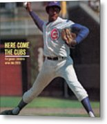 Here Come The Cubs Ferguson Jenkins Wins His 20th Sports Illustrated Cover Metal Print