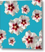 Hibiscus Flower Pattern Metal Print