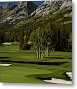 High Angle View Of A Golf Course, Mt Metal Print
