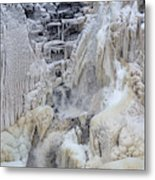 High Falls, Smaller Waterfall Metal Print