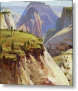 High On Zion Metal Print