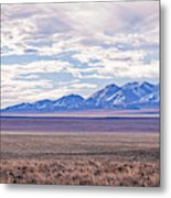 High Plains And Majestic Mountains Metal Print