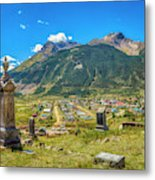 Hillside Cemetery Of Silverton Colorado Metal Print