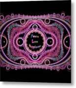 Hippie Lace - Peace, Love, Happiness Metal Print