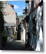 historic cobbled lane in Beilstein Germany Metal Print