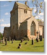 historic Crichton Church and graveyard in Scotland Metal Print