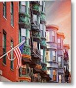 Historic North End Boston Massachusetts Metal Print