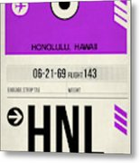 Hnl Honolulu Luggage Tag I Metal Print