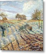 Hoarfrost At Ennery, 1873 Metal Print