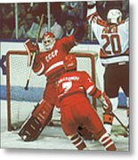 Hockey Fun At Rendezvous 87 Metal Print