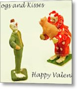 Hogs And Kisses Clown Valentines Metal Print