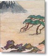 Hoitsu Through The Eyes Of Modernity Turned Backward Metal Print