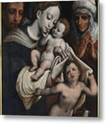 Holy Family With Elisabeth And John The Baptist  Metal Print