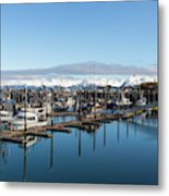 Homer Alaska Fishing Port Metal Print