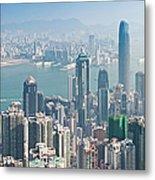 Hong Kong Iconic Skyscraper City Metal Print