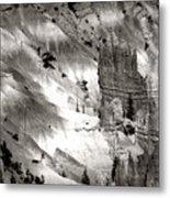 Hoodoo's Black White Utah  Metal Print