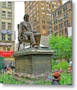Horace Greelly, First President Of Typographic Union Of New York City Metal Print