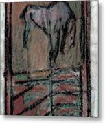 Horse Stables Metal Print