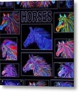 Horses Poster Metal Print
