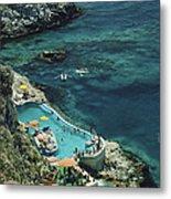 Hotel Taormina Pool Metal Print