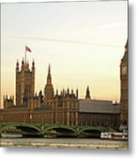 Houses Of Parliament From The South Bank Metal Print