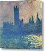 Houses Of Parliament, Sunlight Effect - Digital Remastered Edition Metal Print