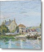 Houses On The Bank Of Ecluse At The Gazonne Metal Print
