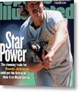 Houston Astros Randy Johnson... Sports Illustrated Cover Metal Print
