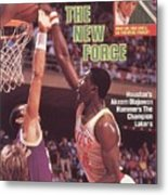 Houston Rockets Akeem Olajuwon, 1986 Nba Western Conference Sports Illustrated Cover Metal Print