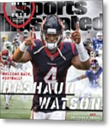 Houston Texans Deshaun Watson, 2018 Nfl Football Preview Sports Illustrated Cover Metal Print