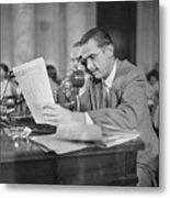 Howard Hughes Testifying During Senate Metal Print