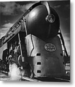 Hudson Steam Loco Metal Print