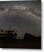 Hurkett Shipwrecks On A Late June Night Milky Way Arch Pano Metal Print