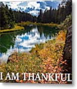 I Am Thankful Metal Print