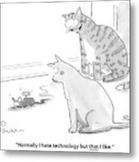 I Hate Technology Metal Print