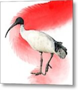I Is For Ibis Metal Print