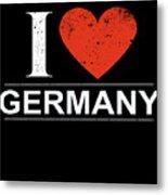 I Love Germany Metal Print