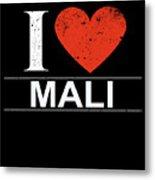 I Love Mali Metal Print