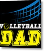 I Love Volleyball Team Player Ball Metal Print