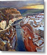 I Saw Three Ships Come Sailing In, On Christmas Day In The Morning. Metal Print