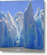 Ice Castles On A Sunny Day At The Grey Metal Print