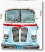 Ice Cream Food Truck Metro Van Metal Print