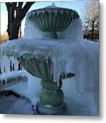 Ice Fountain Metal Print