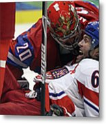 Ice Hockey - Day 10 - Russia V Czech Metal Print