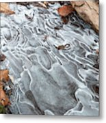 Ice Swirls Metal Print