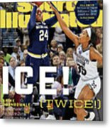 Ice Twice Arike Ogunbowale Brings Home The Title For Notre Sports Illustrated Cover Metal Print