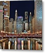 Iconic Night View Down The River Metal Print