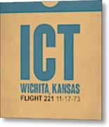 Ict Wichita Luggage Tag I Metal Print