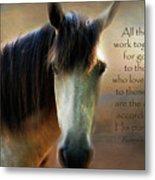If Horses Could Talk - Verse Metal Print