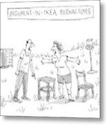 Ikea Reenactors Metal Print